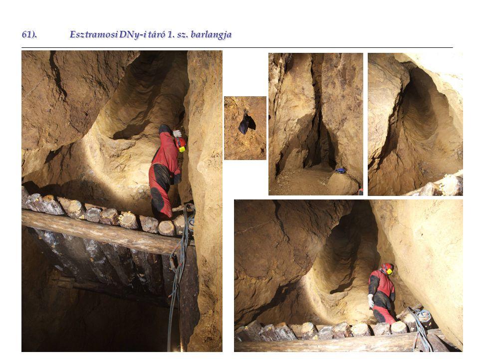 61).Esztramosi DNy-i táró 1. sz. barlangja