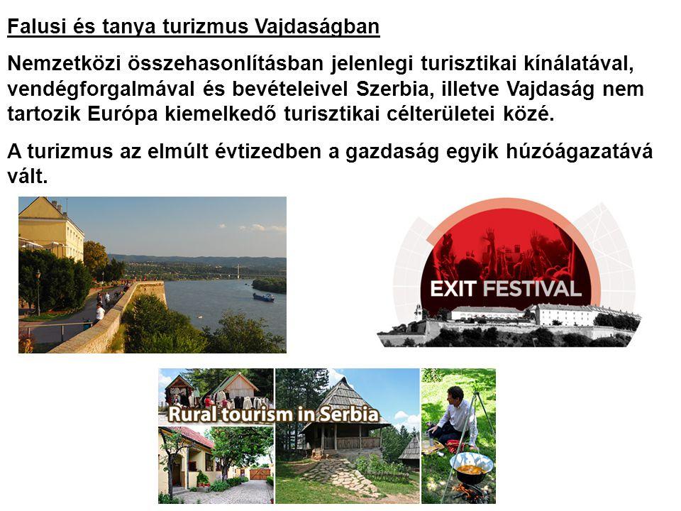 Falusi és tanya turizmus Vajdaságban Nemzetközi összehasonlításban jelenlegi turisztikai kínálatával, vendégforgalmával és bevételeivel Szerbia, illet