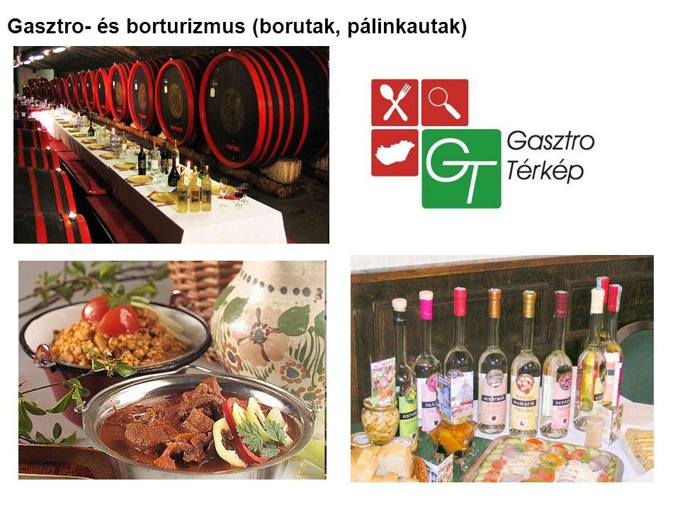 Gasztro- és borturizmus (borutak, pálinkautak)