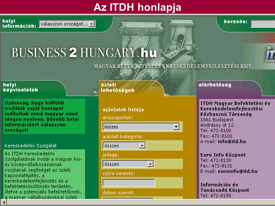 Az ITDH honlapja