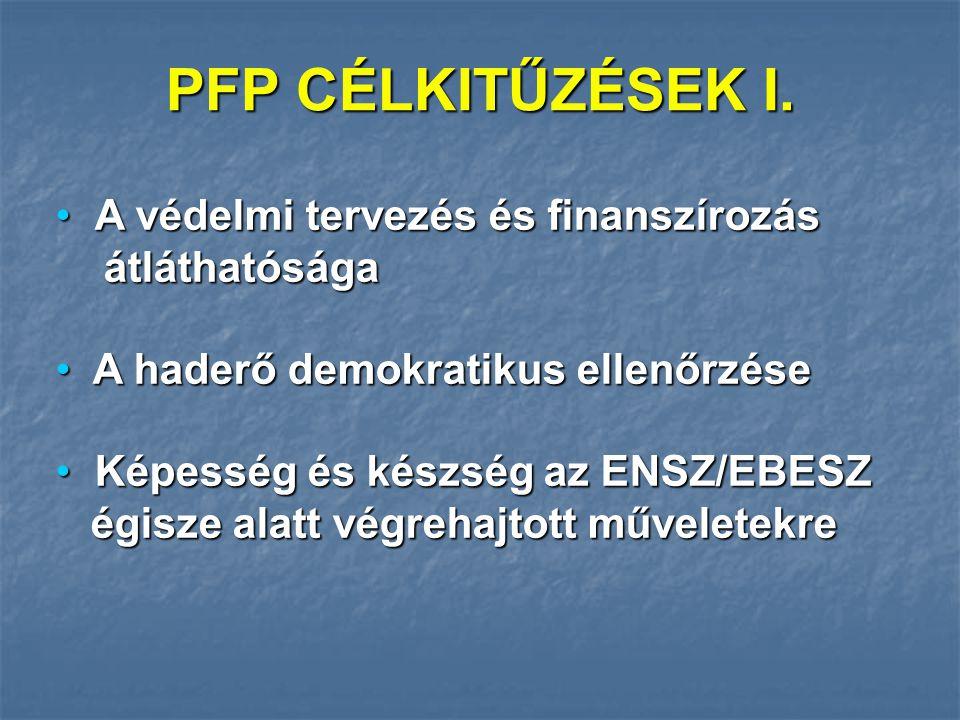 PFP CÉLKITŰZÉSEK I.