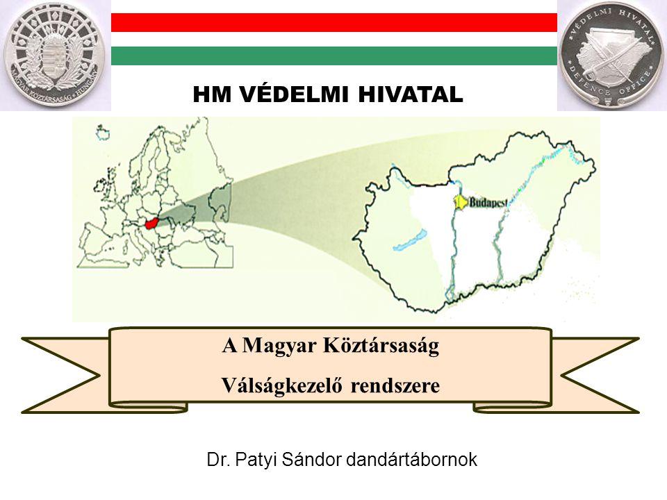 A Magyar Köztársaság Válságkezelő rendszere Dr. Patyi Sándor dandártábornok HM VÉDELMI HIVATAL