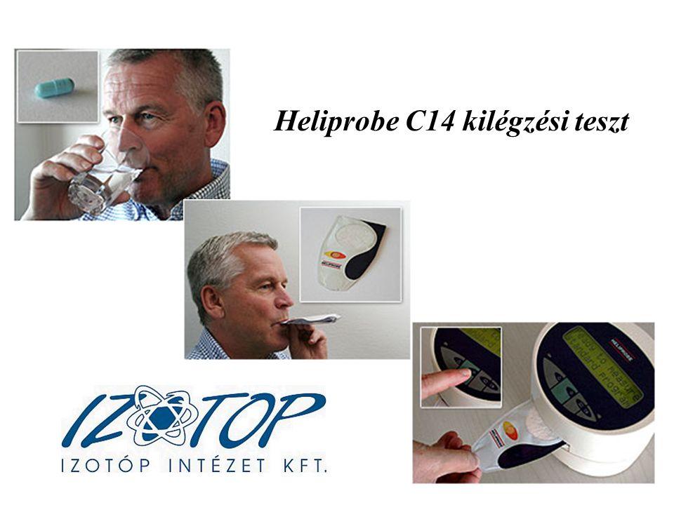 Heliprobe C14 kilégzési teszt