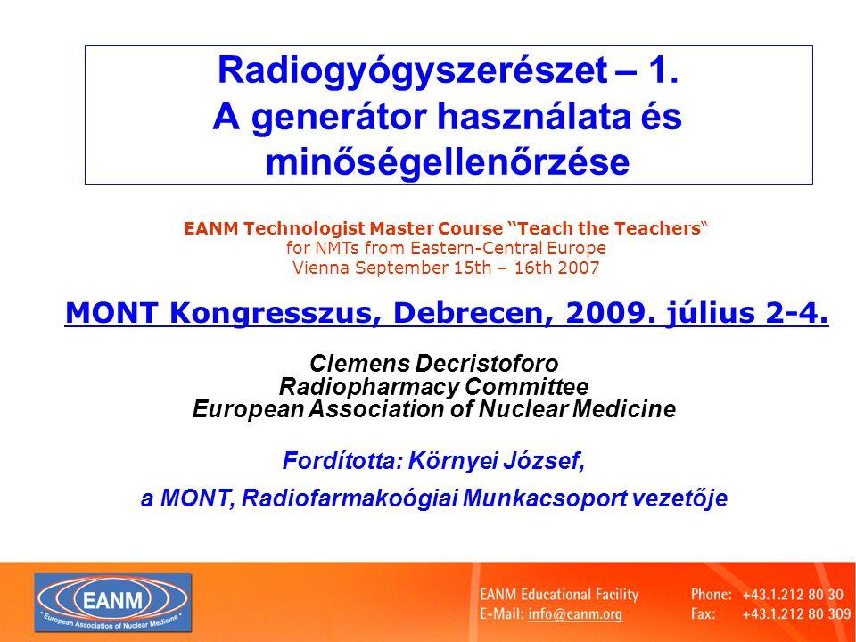 Slide 3 Mi az izotópgenerátor .
