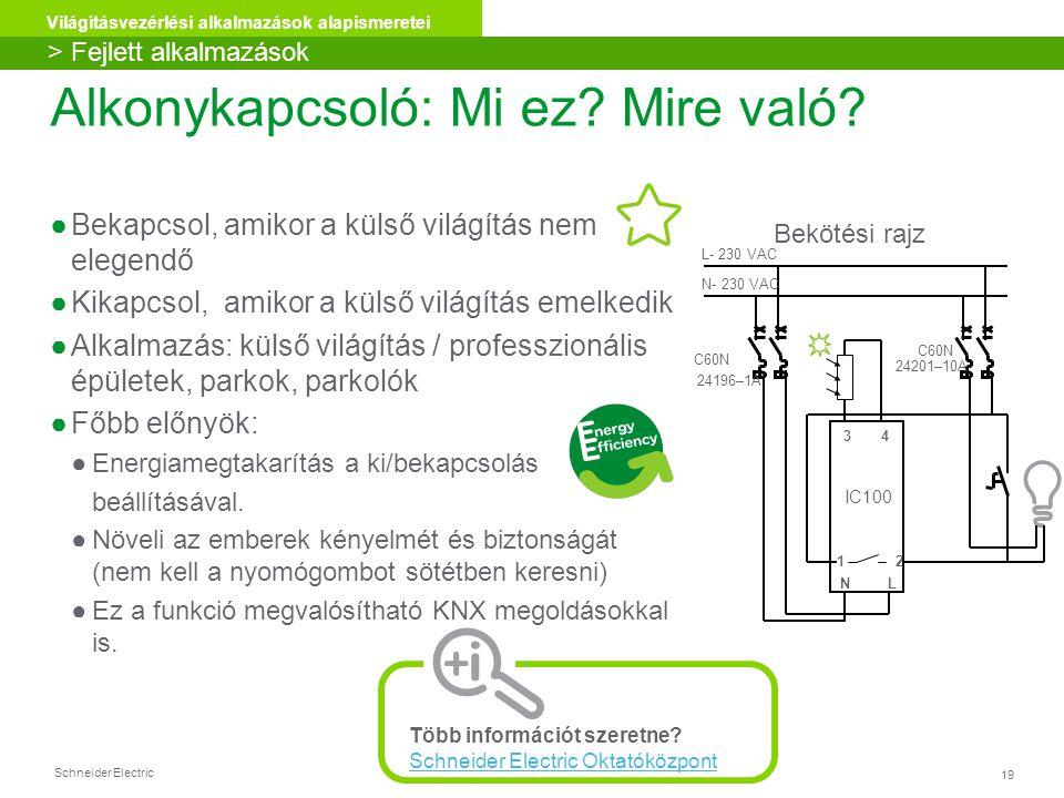 Schneider Electric 19 Világításvezérlési alkalmazások alapismeretei Alkonykapcsoló: Mi ez.