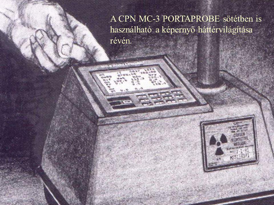 A CPN MC-3 PORTAPROBE pontos méréseket tud végezni szűk árokban is.