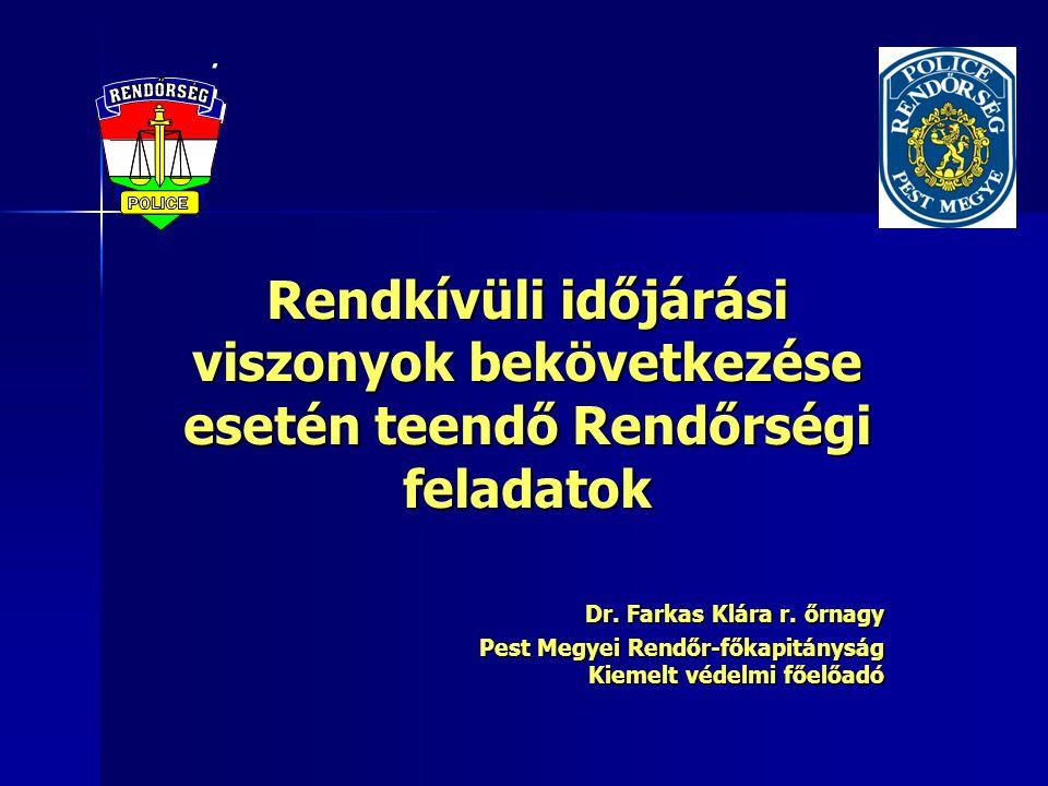 A veszély-elhárítási feladattervek rendszere (A Rendőrség polgári védelmi feladatairól szóló 60/2007.