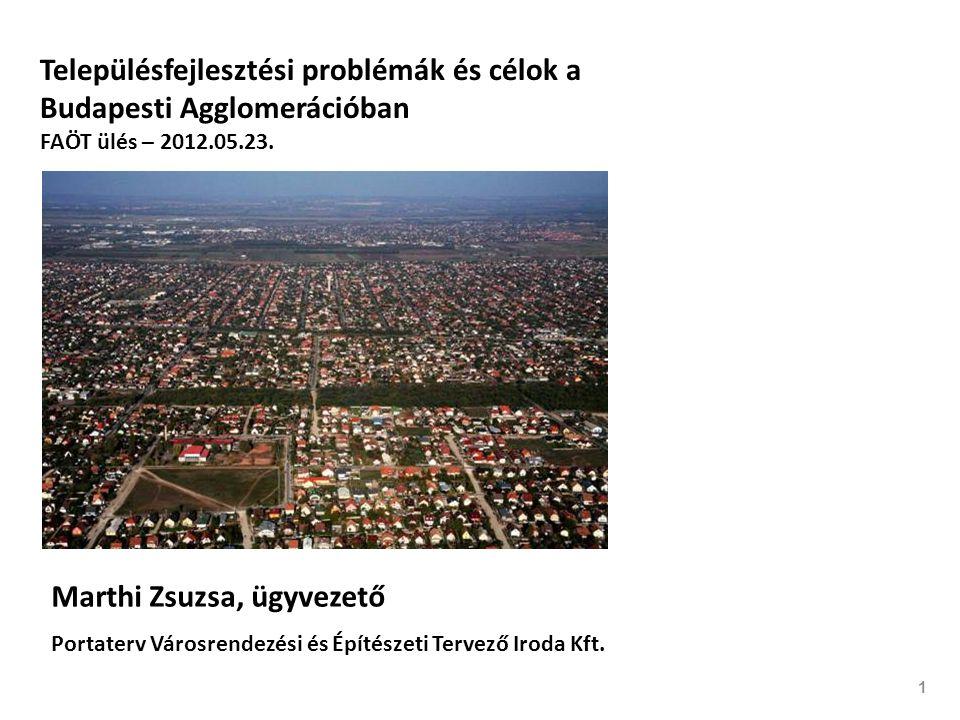 1 Településfejlesztési problémák és célok a Budapesti Agglomerációban FAÖT ülés – 2012.05.23.