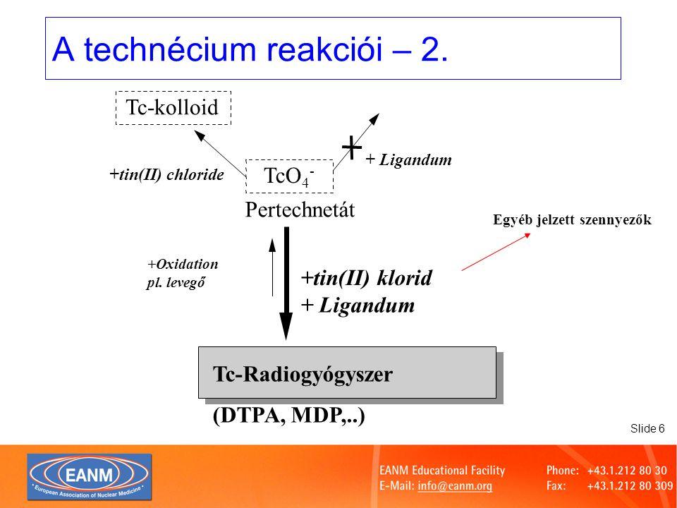 Slide 17 Radiokémiai tisztaság meghatározása a kórházi meleglaborokban cseppentés futtatásértékelés