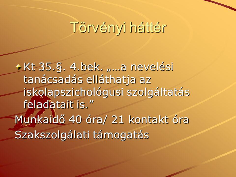 Törvényi háttér Kt 35.§.4.bek.