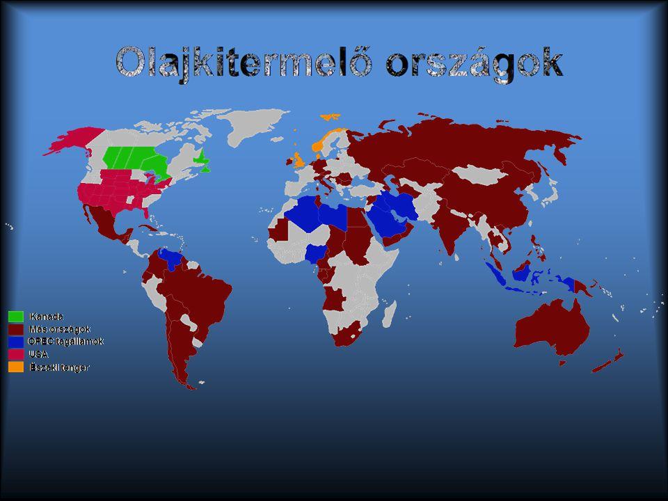Olajkitermelő országok