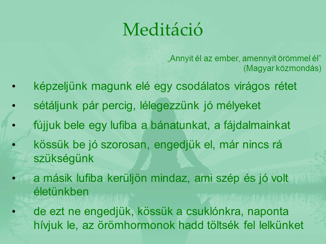 """Meditáció """"Annyit él az ember, amennyit örömmel él"""" (Magyar közmondás) képzeljünk magunk elé egy csodálatos virágos rétet sétáljunk pár percig, lélege"""