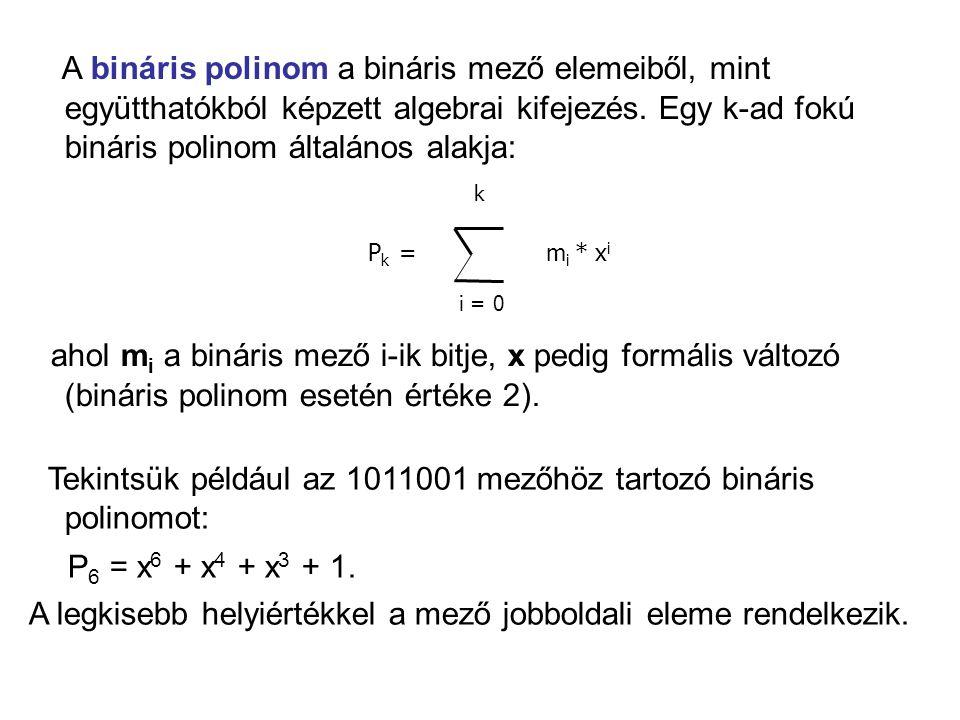 A bináris polinom a bináris mező elemeiből, mint együtthatókból képzett algebrai kifejezés.