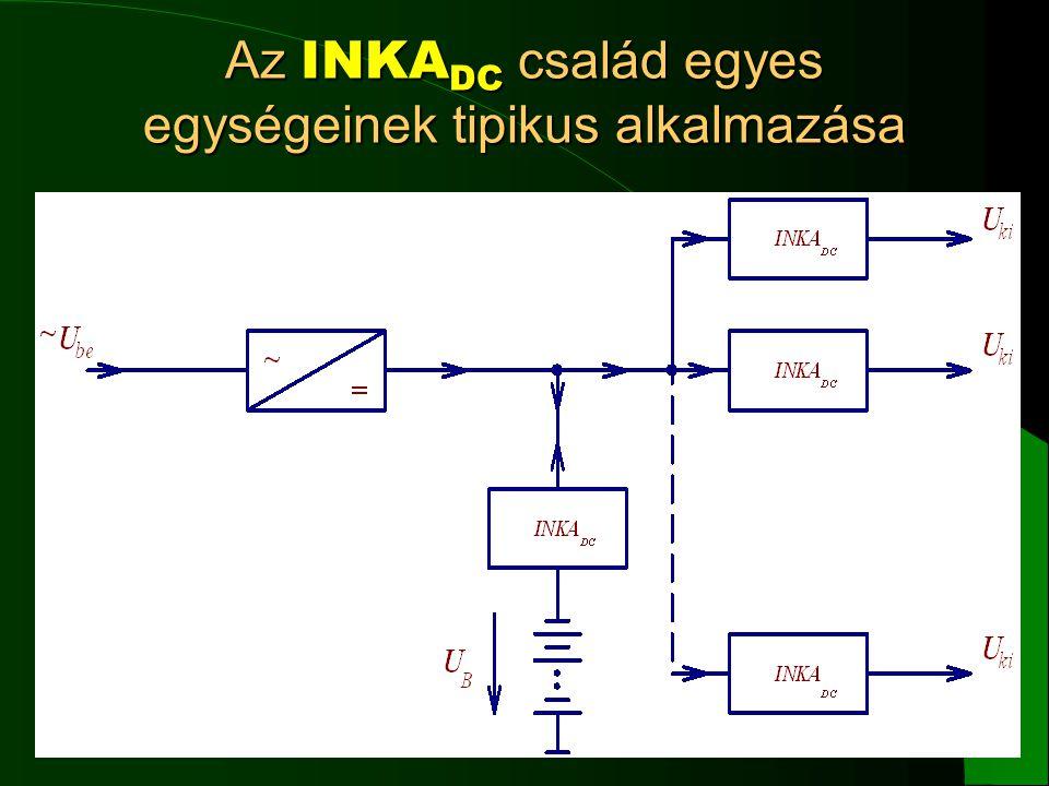 13 Az INKA DC család egyes egységeinek tipikus alkalmazása