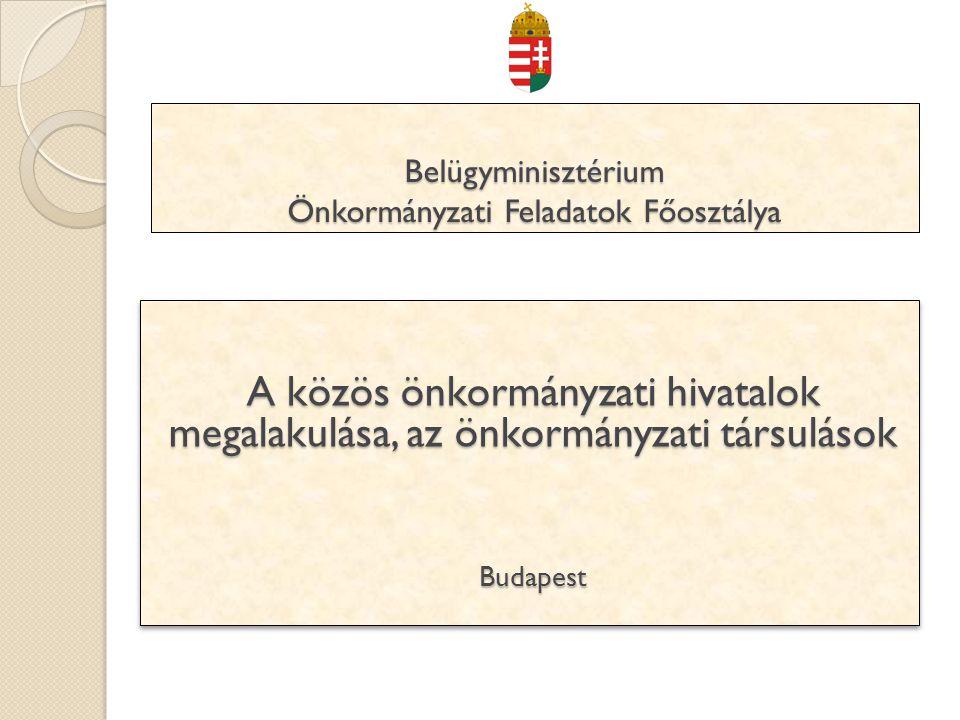 Belügyminisztérium Önkormányzati Feladatok Főosztálya