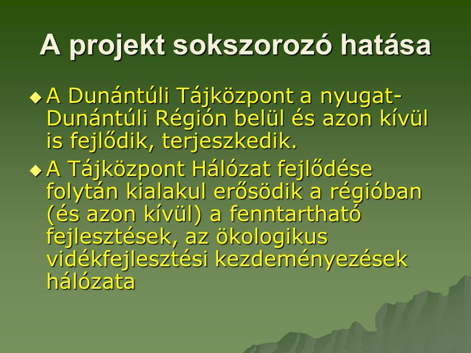 A projekt szükségessége  Működő, adaptálható modellek bemutatása az ökológikus vidékfejlesztés terén  A fenntartható fejlődés a legtöbb esetben a magyar döntéshozatalban egyelőre sajnos nem több egy divatos, és sokszor félreértelmezett kifejezésnél.
