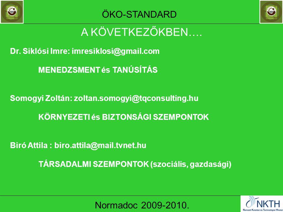 ÖKO-STANDARD Normadoc 2009-2010. Dr.