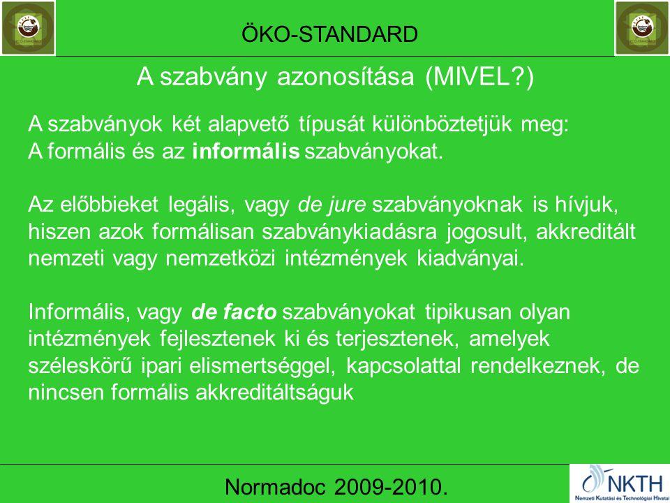 ÖKO-STANDARD Normadoc 2009-2010.