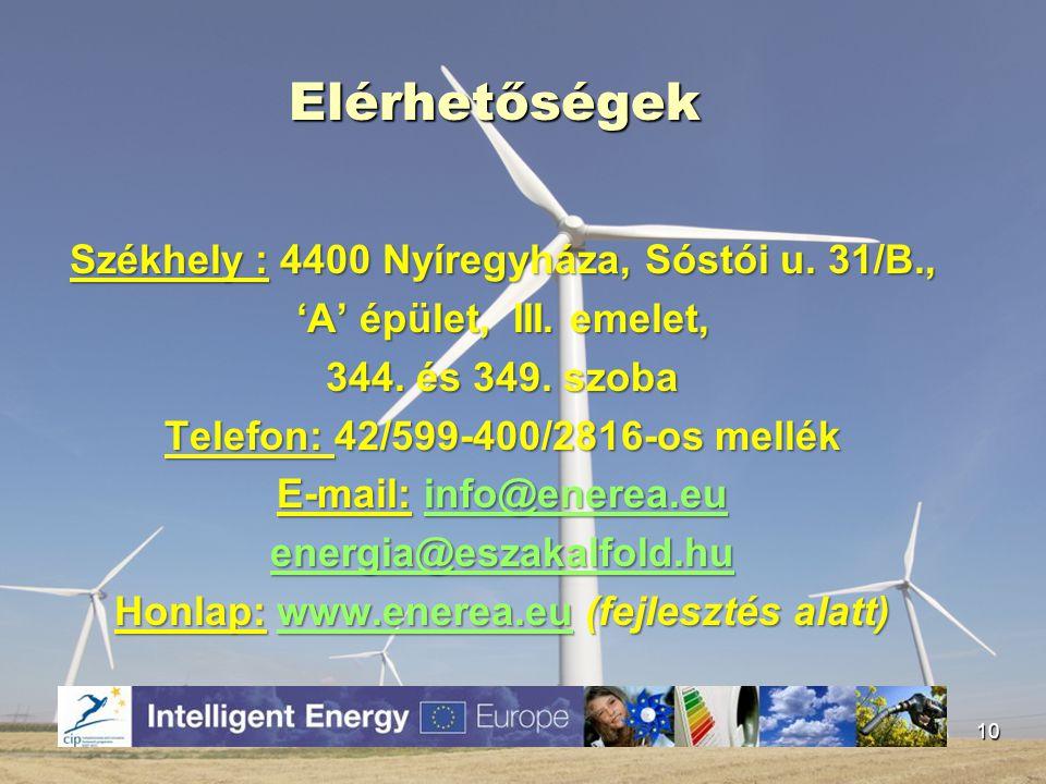 Elérhetőségek Székhely : 4400 Nyíregyháza, Sóstói u. 31/B., 'A' épület, III. emelet, 344. és 349. szoba Telefon: 42/599-400/2816-os mellék E-mail: inf