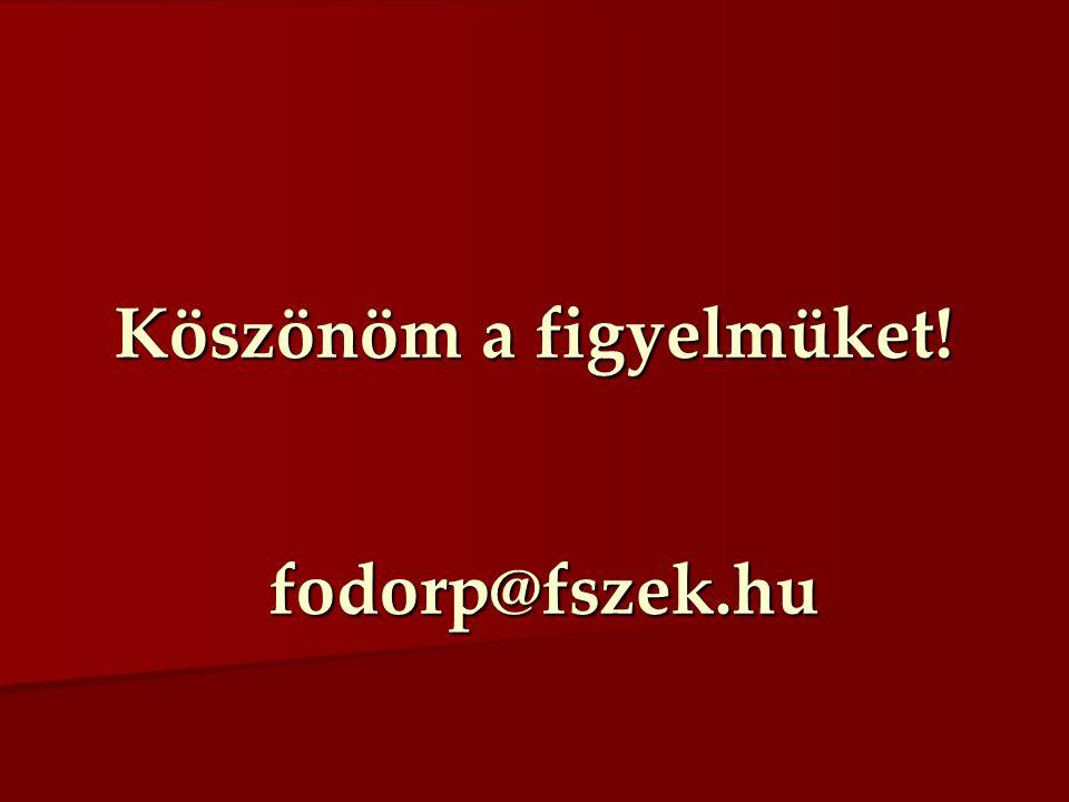 Köszönöm a figyelmüket! fodorp@fszek.hu