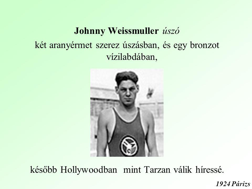 Johnny Weissmuller úszó két aranyérmet szerez úszásban, és egy bronzot vízilabdában, később Hollywoodban mint Tarzan válik híressé.