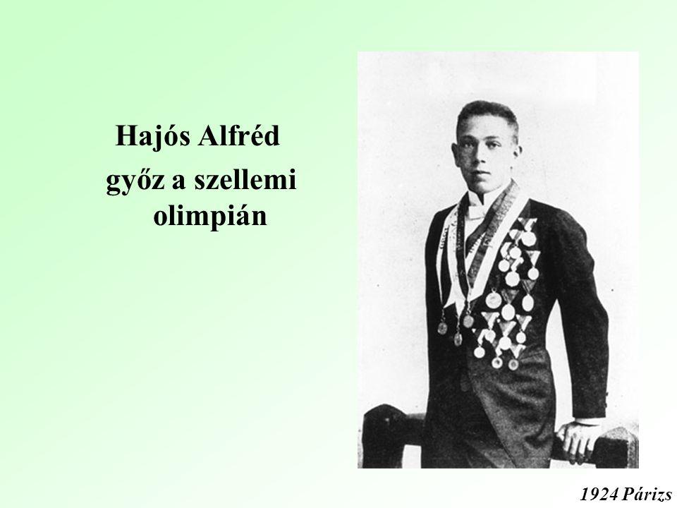 Hajós Alfréd győz a szellemi olimpián 1924 Párizs