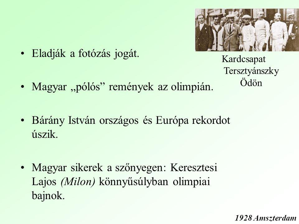 """Eladják a fotózás jogát.Magyar """"pólós remények az olimpián."""