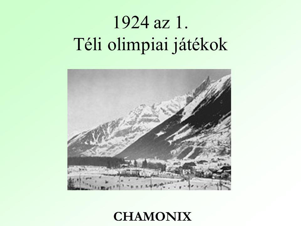 1924 az 1. Téli olimpiai játékok CHAMONIX