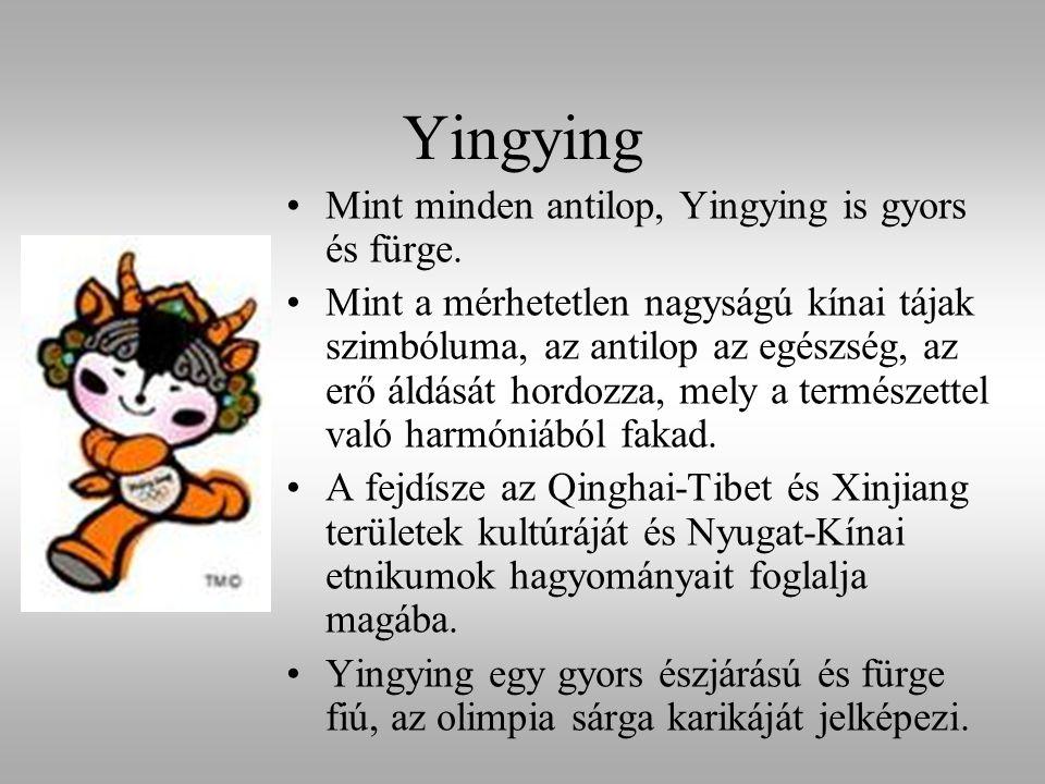 Yingying Mint minden antilop, Yingying is gyors és fürge. Mint a mérhetetlen nagyságú kínai tájak szimbóluma, az antilop az egészség, az erő áldását h