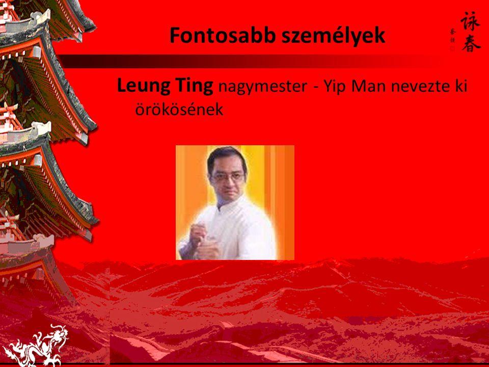 Fontosabb személyek Leung Ting nagymester - Yip Man nevezte ki örökösének