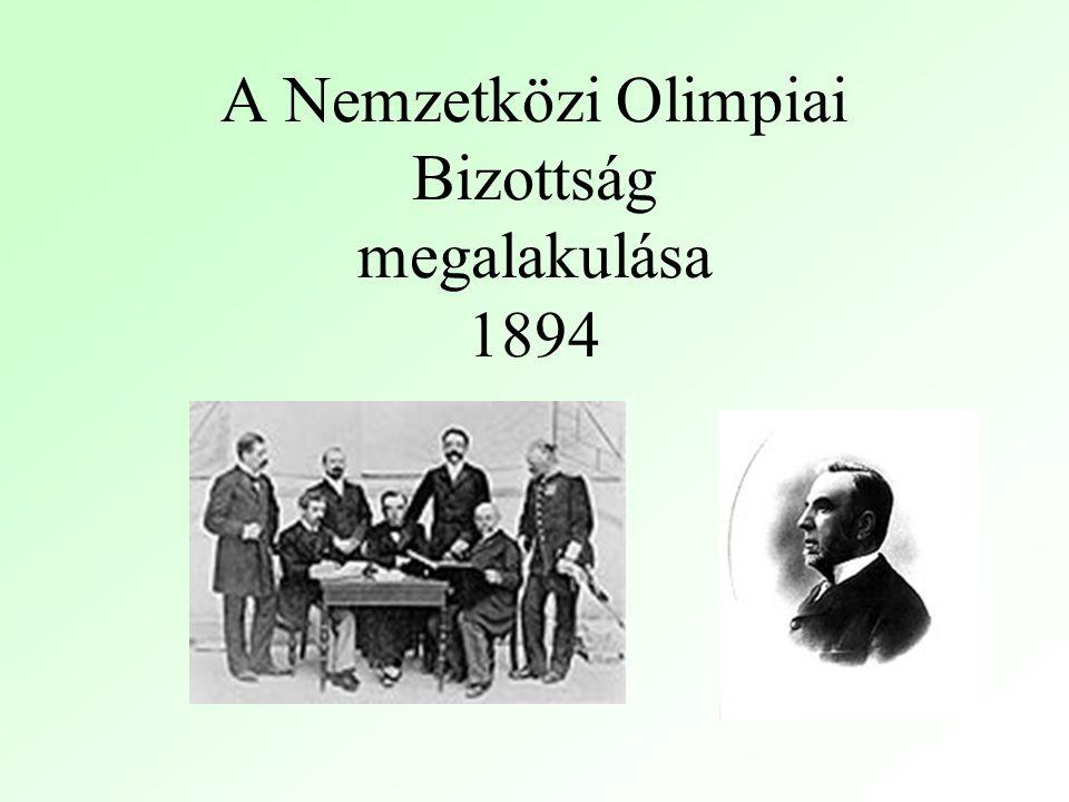 A Nemzetközi Olimpiai Bizottság megalakulása 1894
