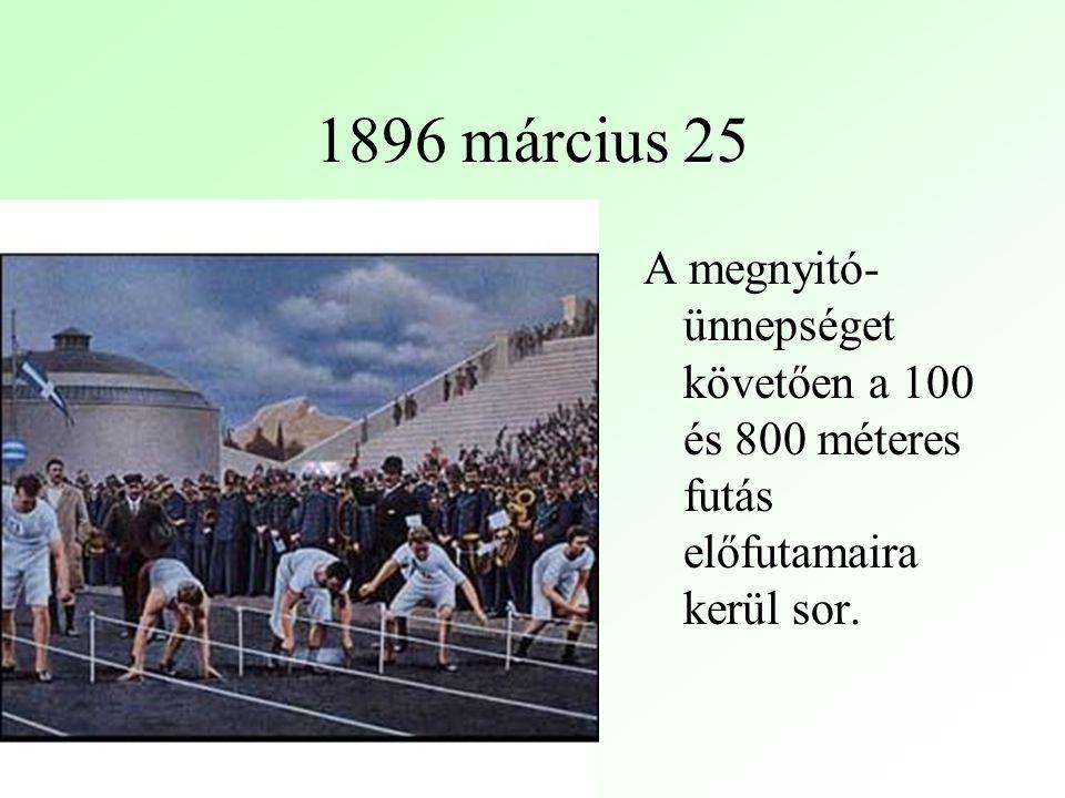 A megnyitó- ünnepséget követően a 100 és 800 méteres futás előfutamaira kerül sor.