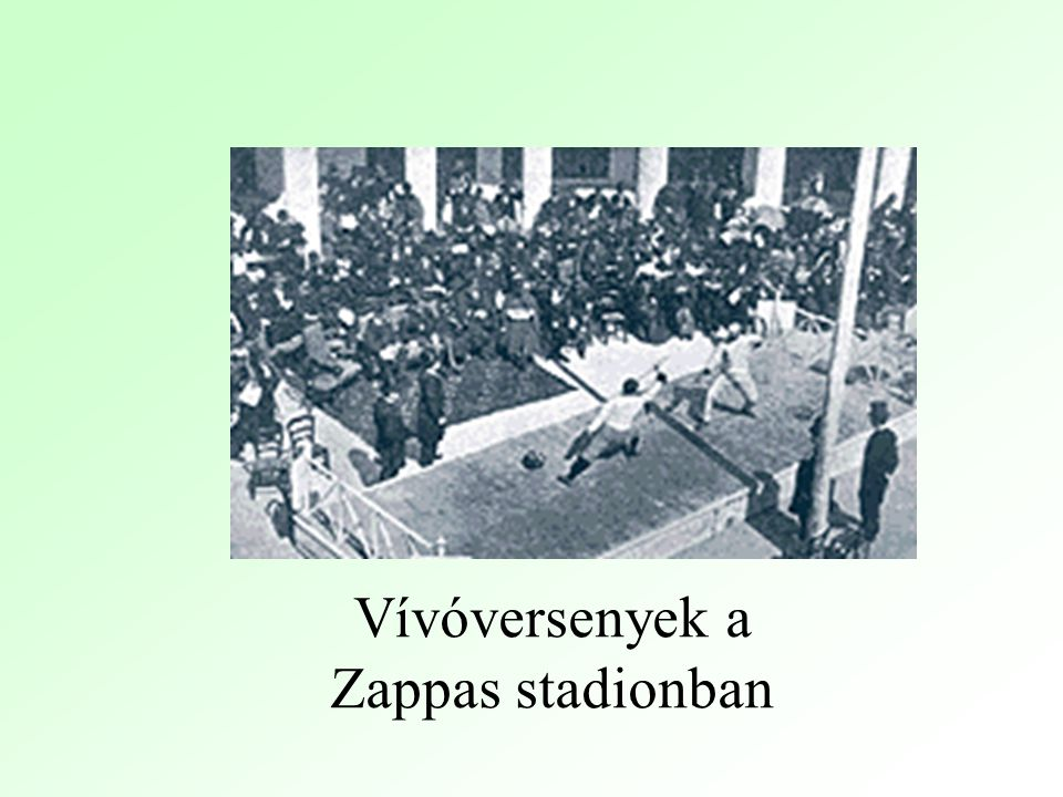 Vívóversenyek a Zappas stadionban