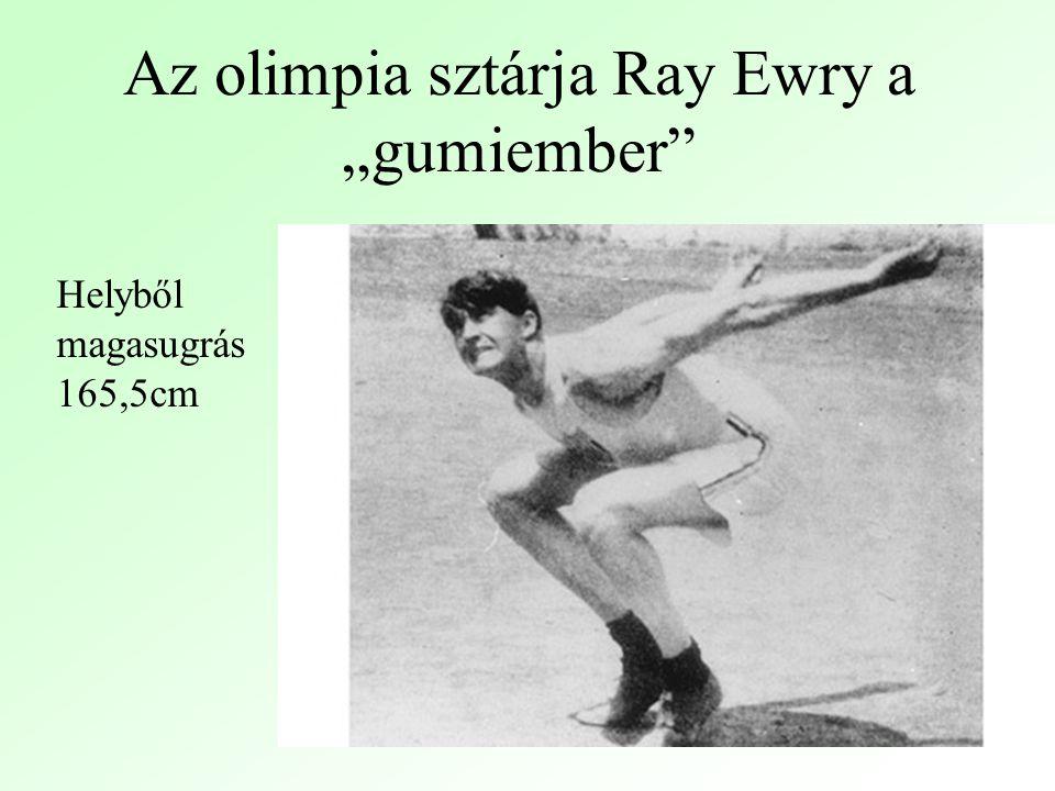 """Az olimpia sztárja Ray Ewry a """"gumiember Helyből magasugrás 165,5cm"""