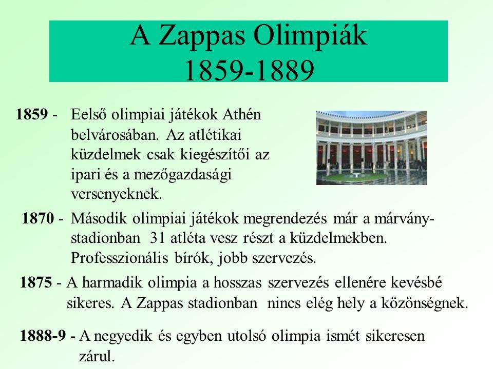 Kísérletek az olimpiai játékok felélesztésére külföldön 1800 F.