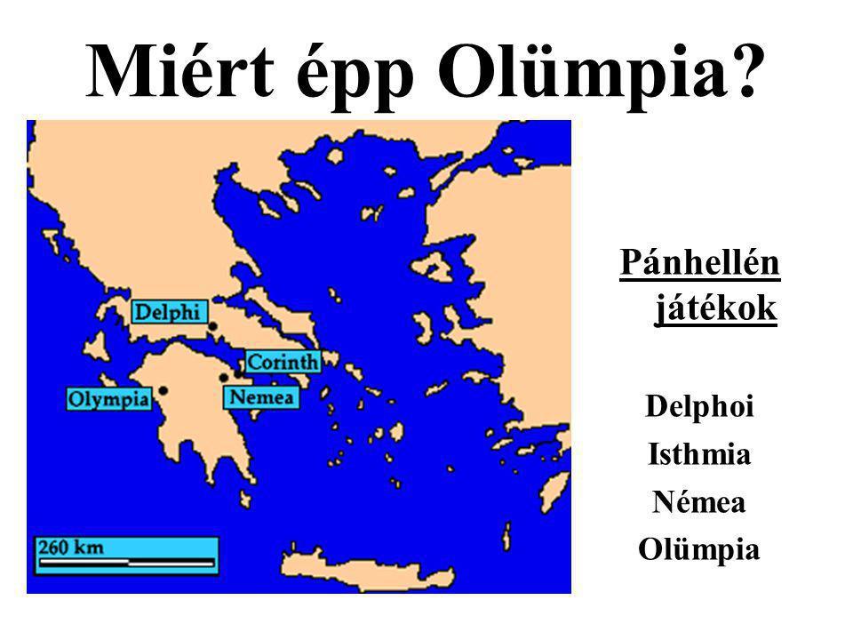 Miért épp Olümpia? Pánhellén játékok Delphoi Isthmia Némea Olümpia