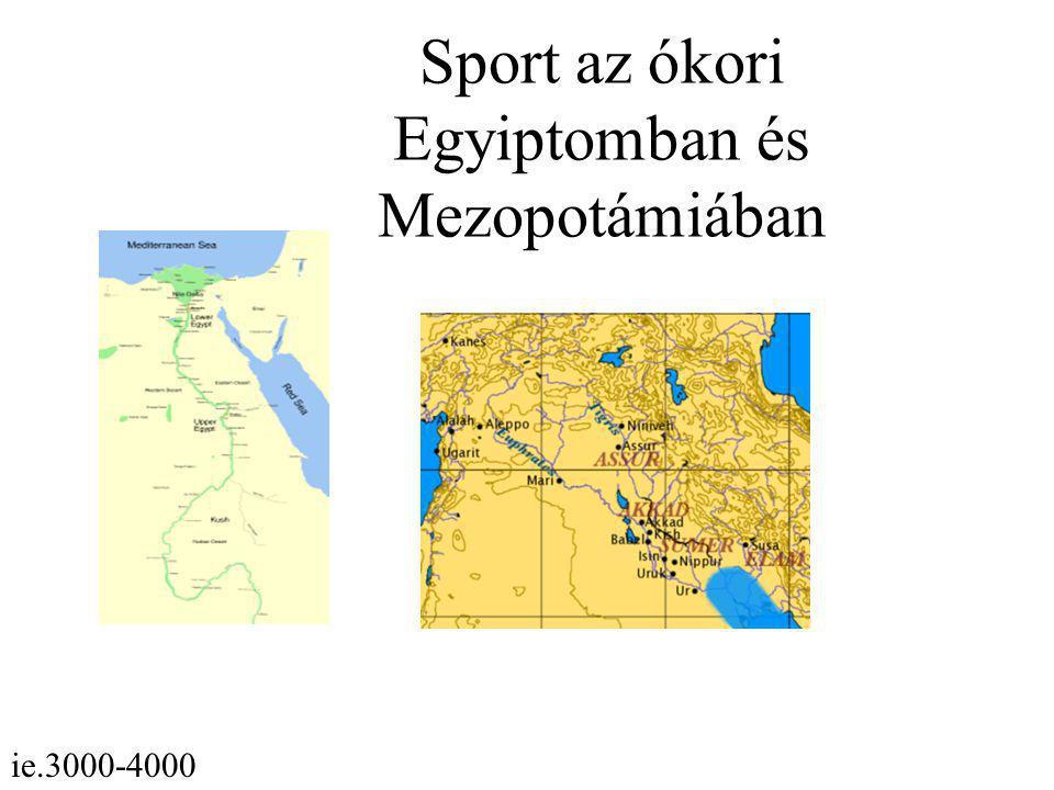 Sport az ókori Egyiptomban és Mezopotámiában ie.3000-4000