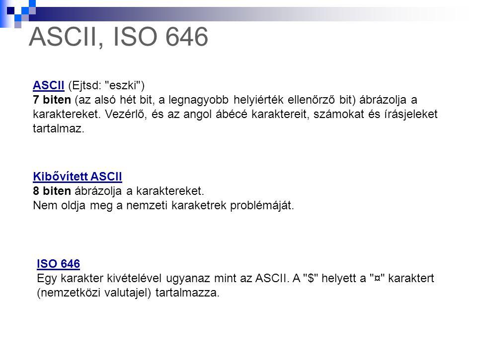 ASCII, ISO 646 ASCIIASCII (Ejtsd:
