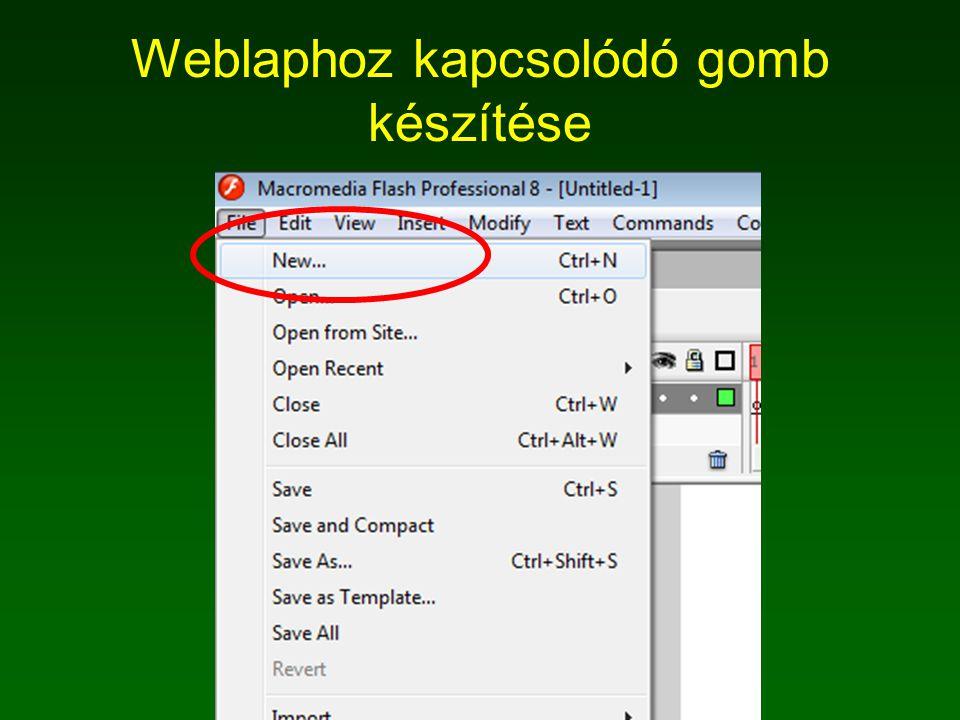 Weblaphoz kapcsolódó gomb készítése