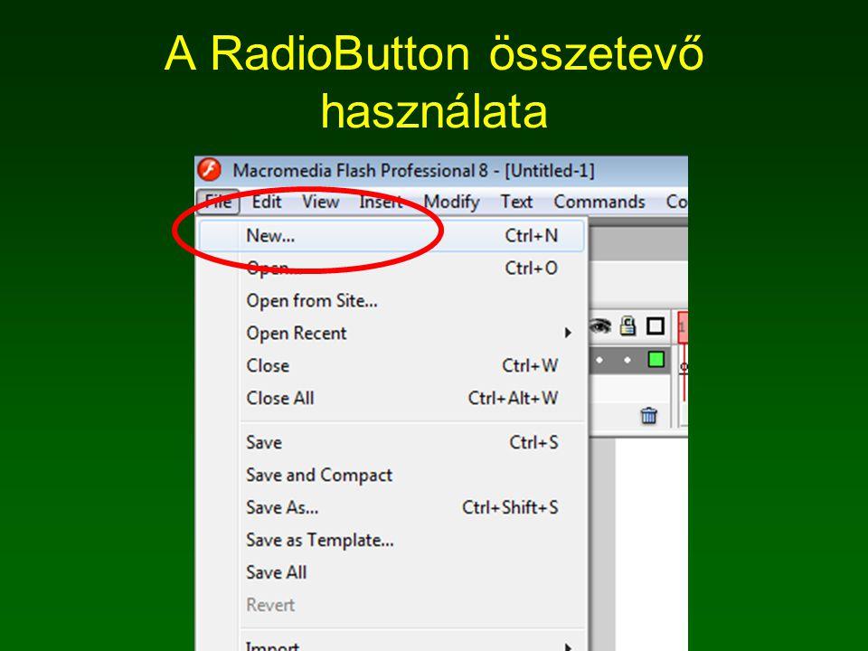 A RadioButton összetevő használata