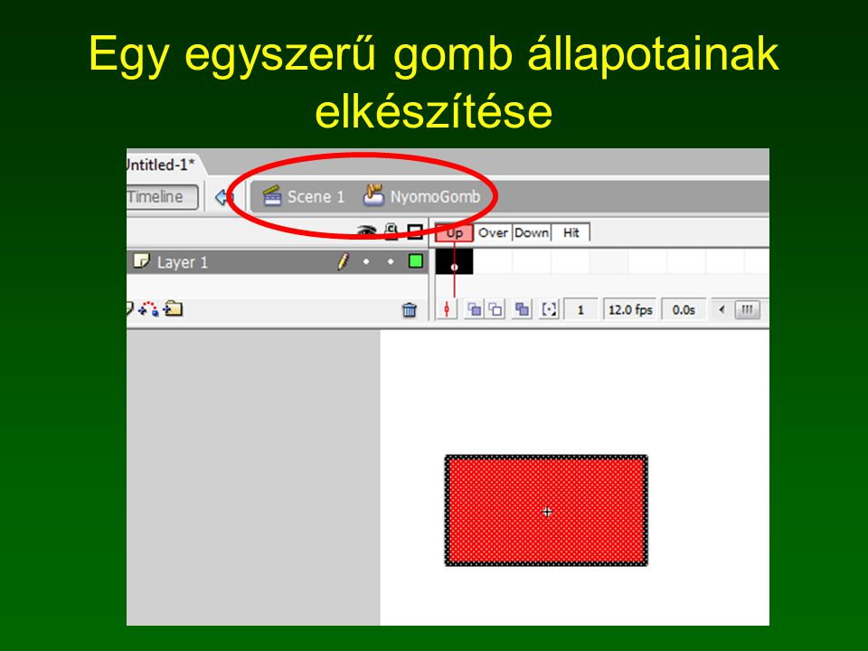 A Lejatszas gomb scriptje on (press) { play(); this.kocsi1.elsokerek.play(); this.kocsi1.hatsokerek.play(); }