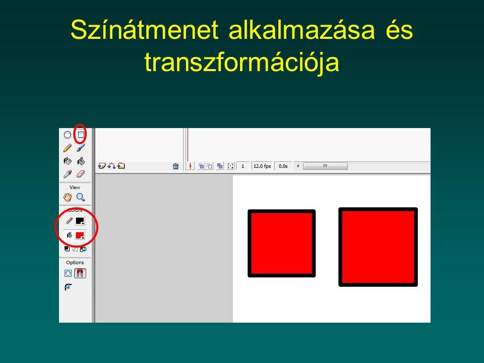 Színátmenet alkalmazása és transzformációja
