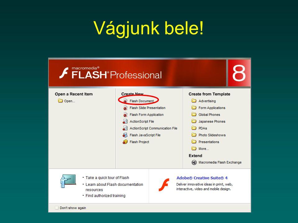 Ügyeljünk a betűtípusokra A flash mozi helyes lejátszásához azon a gépen, ahol le szeretnénk játszani, telepítve kell lenni a flash moziban szereplő betűtípusoknak.