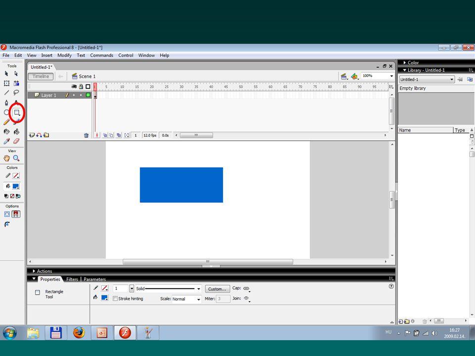 Koordináta-rendszer x (vízszintes, képpontokban) y (függőleges, képpontokban) a kezdőpont a képernyő (vagy a színpad) bal felső sarka