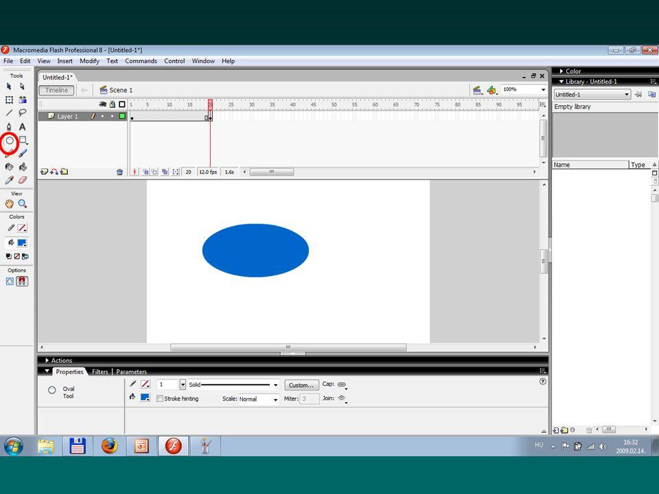 Forrásfájlok (.fla) Ezt a fájlt tudjuk megnyitni és szerkeszteni a Flash programban Ha ezzel nem rendelkezünk, akkor a flash filmet csak a teljes újraszerkesztéssel tudjuk módosítani Nem építhetjük weboldalakba