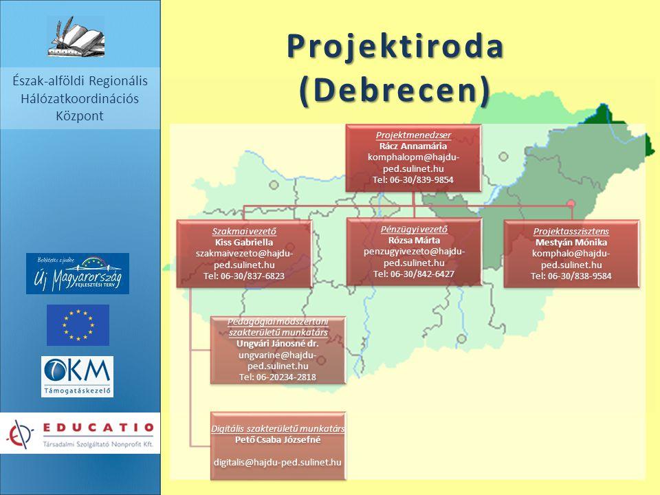 Észak-alföldi Regionális Hálózatkoordinációs Központ Projektiroda (Debrecen) Projektmenedzser Rácz Annamária komphalopm@hajdu- ped.sulinet.hu Tel: 06-
