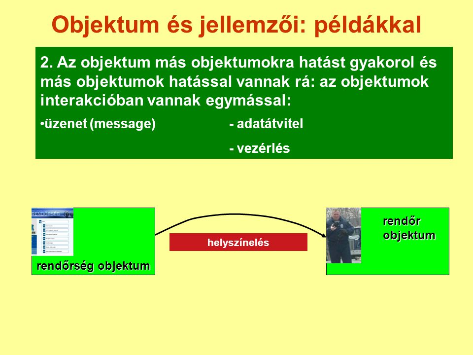 Objektum és jellemzői: példákkal 2.