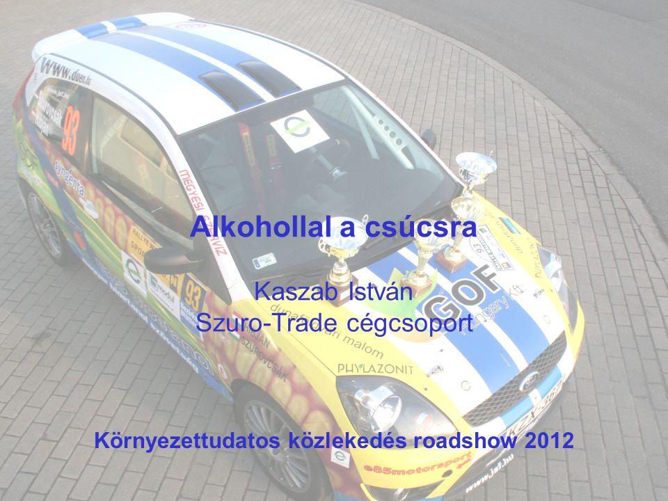 Alkohollal a csúcsra Kaszab István Szuro-Trade cégcsoport Környezettudatos közlekedés roadshow 2012