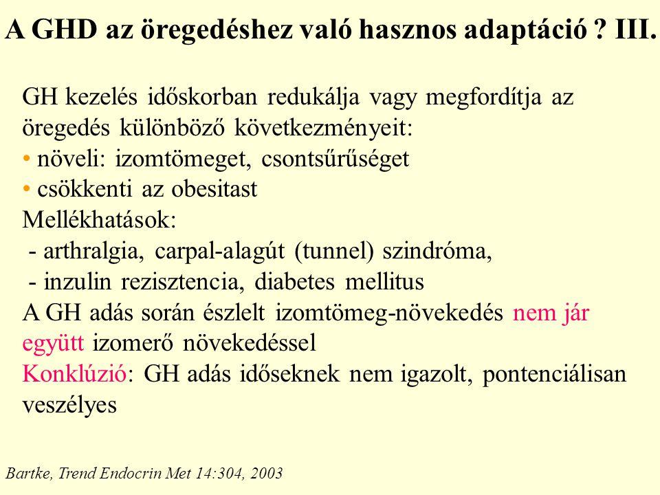 A GHD az öregedéshez való hasznos adaptáció .III.