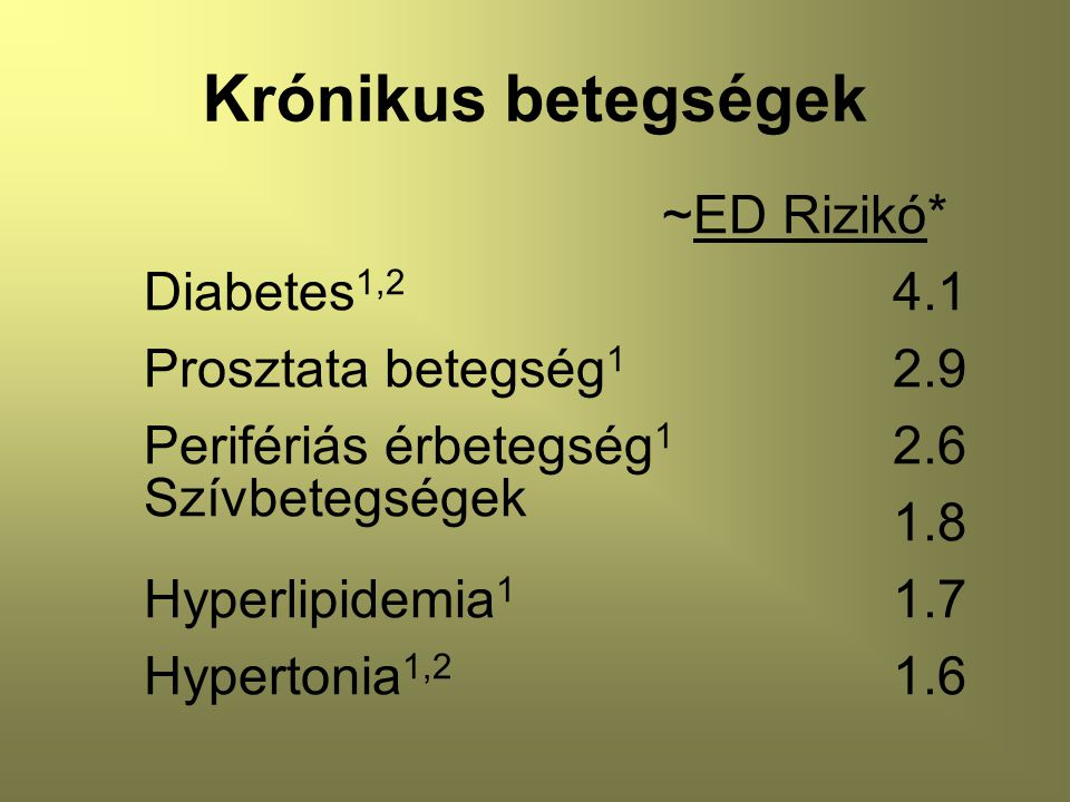 Organikus kórokok Adapted with permission from Goldstein I and the Working Group for the Study of Central Mechanisms in Erectile Dysfunction.